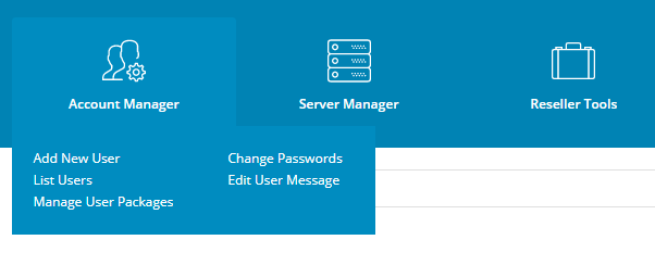 Directadmin Reseller Account Manager