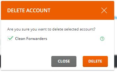 E-mailadres verwijderen popup