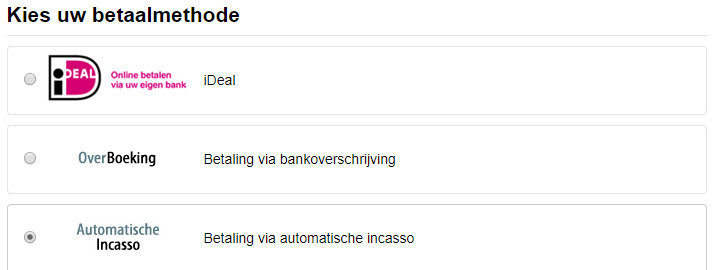 Klantenpaneel betaalgegevens
