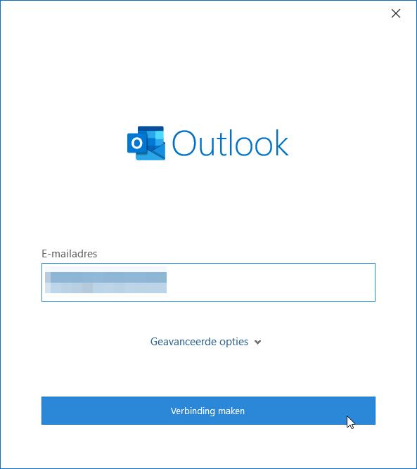 Outlook account toevoegen stap 1