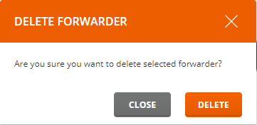 Forwarder verwijderen popup